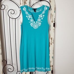 Grace elements embroidered sleeveless dress medium